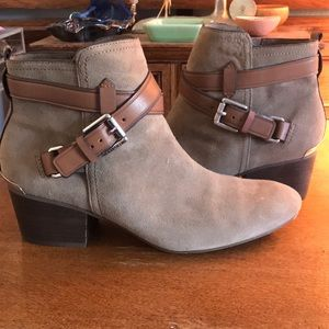 Coach suede buckle boot